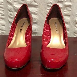 Madden Girl Greta Red Patent Heels